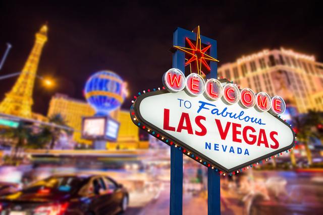 ラスベガスカジノの看板