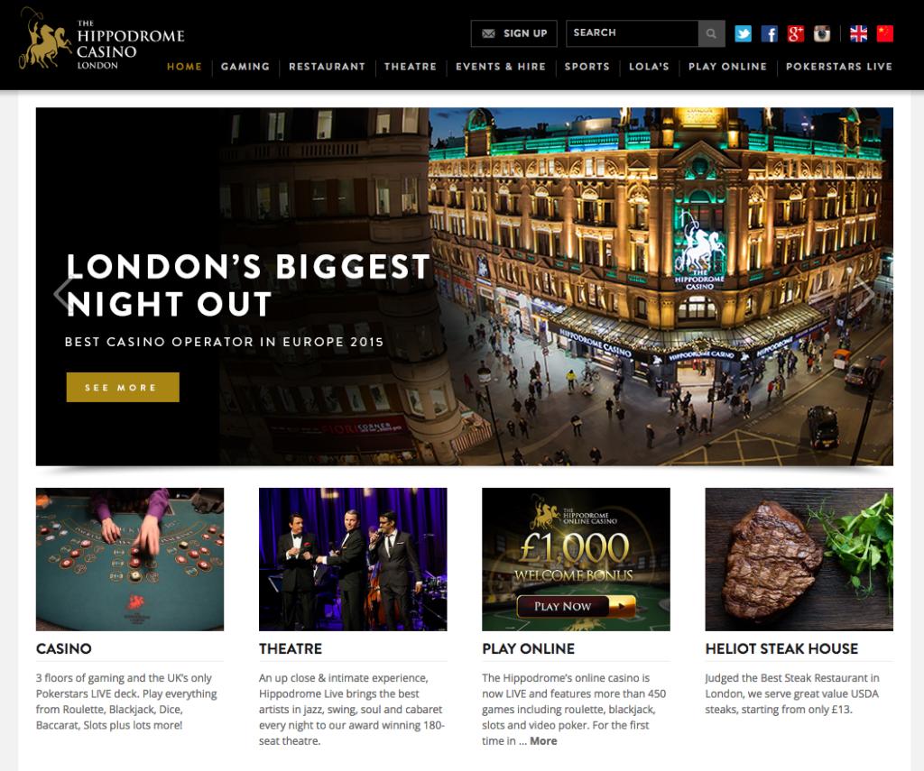 ヒッポドロームカジノの公式サイト