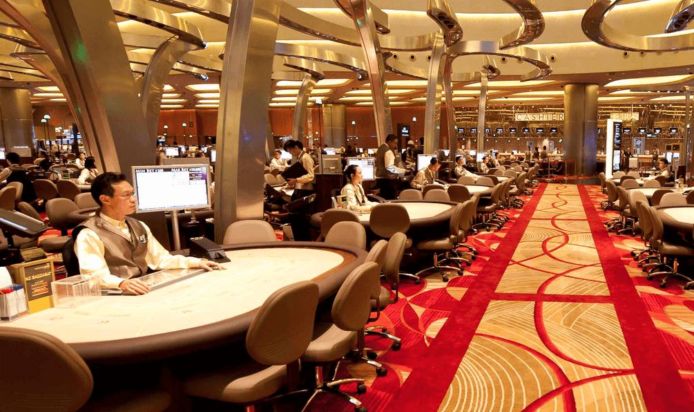マリーナベイサンズ カジノの風景