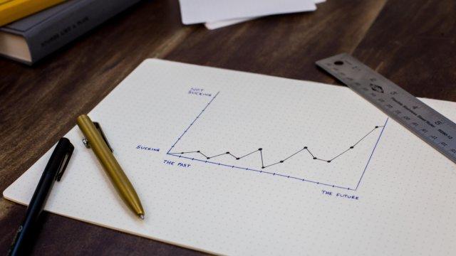 ノートとペンとグラフのメモ